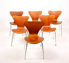 Jacobsen Series 7 Chair Danish Series 7 Teak Dining Chairs By Arne Jacobsen For Fritz