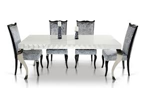 modern ideas white lacquer dining table fancy design mia white