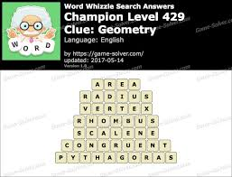 word whizzle search champion level 429 answers