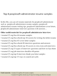 peoplesoft resume sample