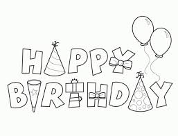 New Birthday Colouring Pages Coloring Printable Happy Valence