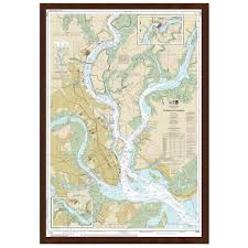 Pine Island Sound Depth Chart Framed Nautical Charts The Map Shop