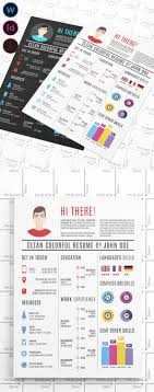 modern cv resume templates cover letter design graphic clean colorful resume template