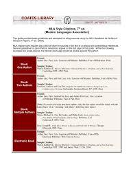 Mla Citation Style 7th Ed Citation Publishing