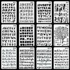Templates Alphabet Letters Details About 12 All Alphabet Letters And Number Plastic Stencils Templates For Painting Craft