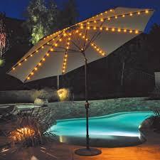 image of patio umbrella lights solar