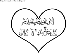Coloriage Coeur Maman Je T Aime