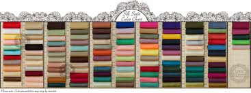 Lacemarry Color Charts Of Satin Chiffon Taffeta And