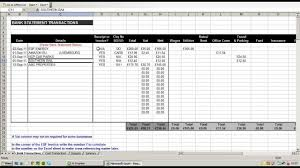 expenses breakdown template using an excel spreadsheet to record and break down business