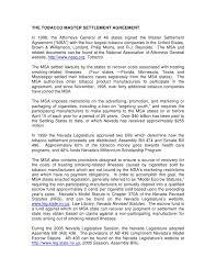 Master Settlement Agreement Stunning Taxstatenvus Documents Introduction%48to%48MSA%48and%48Legislation