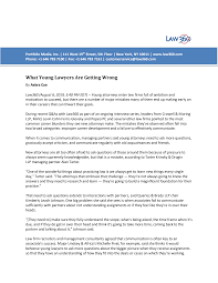 What Young Lawyers Are Getting Wrong