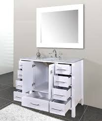 Calesvo 48 inch Contemporary White Cabinet Only Bathroom Vanity