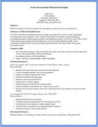 Gallery Of Examples Of Accounting Resumes