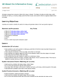 the lesson essay the outsiders lesson plan lesson plans all about  all about the informative essay lesson plan com
