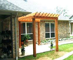attached pergola plans free ideas house diy