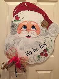 Santa Door Design Santa Door Decoration Hand Painted And Can Be Your In Time