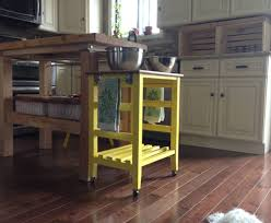 White Kitchen Cart With Granite Top Kitchen Carts Kitchen Cart With Trash Storage White With Black