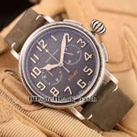 luminous dial mens watches price comparison buy cheapest luxury men s luminous new arrived luxury brand pilot mens high quality vk quartz chronograph 11 2430 4069 21 c773 47mm large dial mens watches leather strap