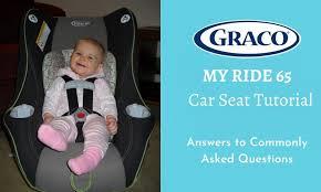graco my ride 65 car seat tutorial