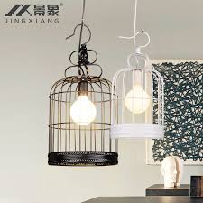 get ations nordic ikea creative personality birdcage chandelier modern american restaurant internet cafe bar dining room lamps study