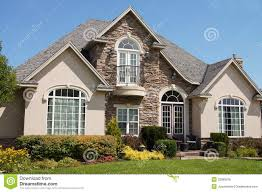 Exterior Of White Stucco Luxury House Stock Photo Image 29607010 .