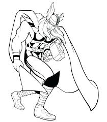 Coloring Pages Thor Avengers Coloring Pages Page Character And