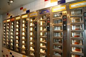 Vending Machine Restaurant Nyc Fascinating The Automat Does It Still Exist Machine NYC Cafe Food And