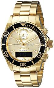 gold mens watch invicta men s 12472 intrinsic analog digital gold watches men invicta