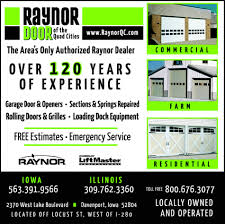 menu for raynor door co inc of the quad cities