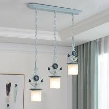 modern decorative glass shade anchor chandelier led ceiling light 5 design available