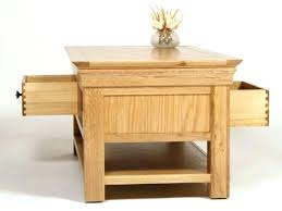 table oak glass coffee table with drawers open round lyon nest of tables
