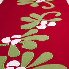 peking handicraft table runner felt mistletoe runner 72l by kate spain