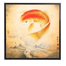 feng shui paintings for office. ink wash lucky feng shui koi fish carp painting wall art for home decoration living room paintings office i