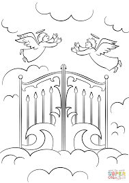 Small Picture Heavens Gates coloring page Free Printable Coloring Pages