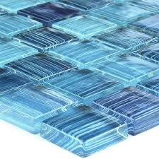 mosaic tiles glass blue striped