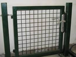 Welded wire fence gate Welding Wire Green Welded Wire Fence Gate In Our Exhibition Hall Swampy Acres Farm Gate Of Welded Fence Surface Treatment Methods And Applications