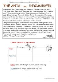 The Grasshopper And The Ant Worksheets Free Worksheets Library ...
