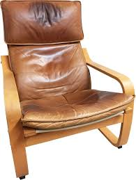 vintage poäng armchair for ikea in leather and birchwood 1990 previous next