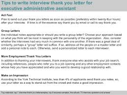 Beautiful Sample Interview Thank You Letter For Administrative Bunch