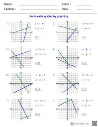 graphing linear equations worksheets 33 elegant 33 best systems of equations inequalities images on