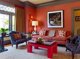 Red And Blue Living Room Awesome Red Living Room Decor With Contemporary Decoration Ideas