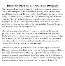 Business Plan Of A Restaurant Pdf - April.onthemarch.co
