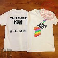 Live Aid 1985 T Shirt Queen Sade David Bowie U2 Live Aid This Shirt Saves Lives Ebay