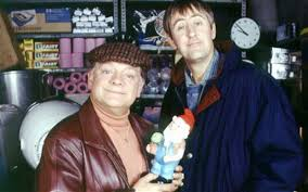david jason and nicolas lyndhurst star as del boy and rodney trotter in only fools and