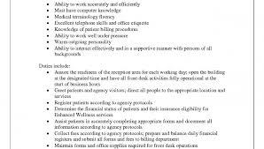 Sample Resume: Medical Receptionist Job Description Resume.
