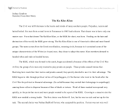 expository essay about history of the ku klux klan gcse history  document image preview
