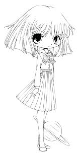 Chibi Coloring Page D9746 Anime Cat Coloring Pages Page Cute Funny