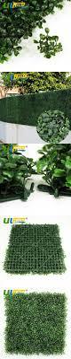 ULAND Artificial Grass Boxwood Hedge Balcony Panels Plastic Garden Fence  Greenery 12 pcs 50x50cm/pc