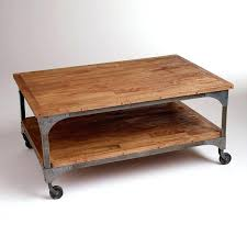 rustic coffee table with wheels diy affordable tables