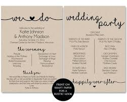 free printable wedding ceremony programs template for program martha stewart